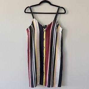 Topshop Striped Button Down Mini Dress